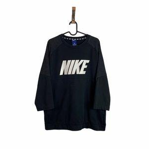 Mens Black Nike Spellout Logo Crewneck Size: XL